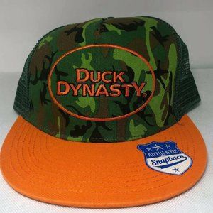 Duck Dynasty Snapback Trucker Hat Camo Orange A&E